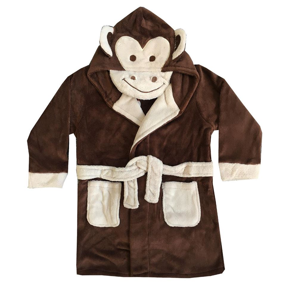 Kids Monkey Dressing Gowns
