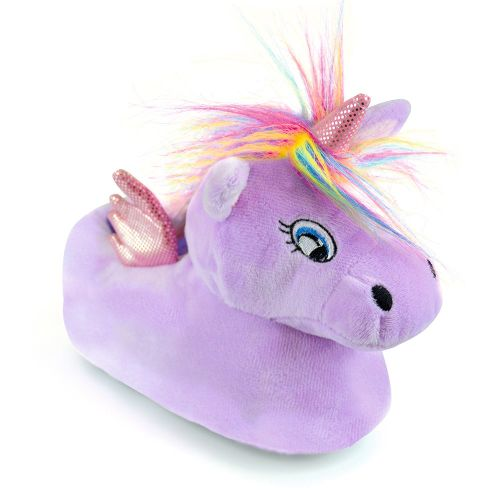 Girls Unicorn Lilac Slipper