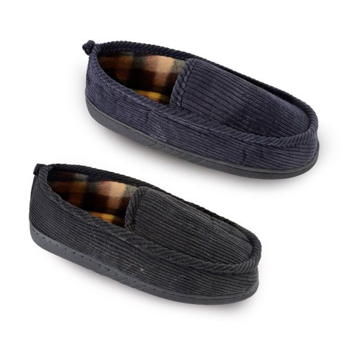 Men slippers with Checked Lining