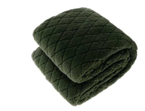 Ezra Dark Green Throw