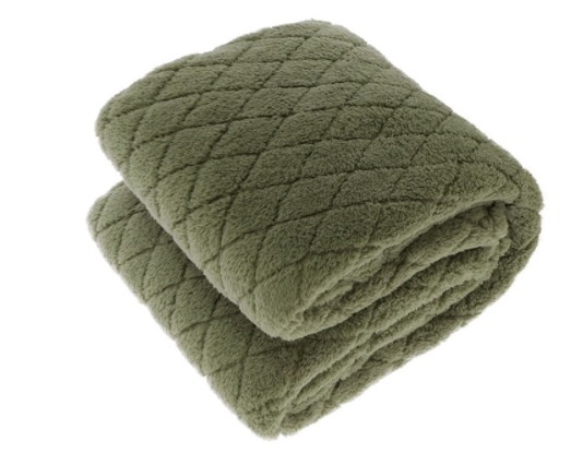 Ezra Oil Green Throw