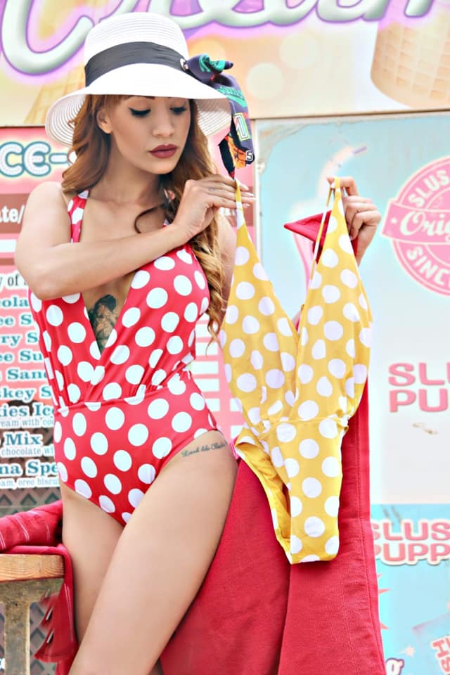 Retro style Polka dots Swimsuit